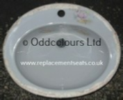 Balterley OSR 1TH Inset Vanity Basin (Misty Grey + Pink Satsuma)