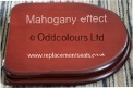 Mahogany-finish Resin Brasilia Replica Seat