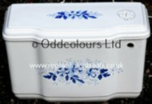 Charlotte Decorated Cistern (White + Deco)