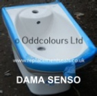 Roca Dama Senso 1TH Wall Hung Bidet