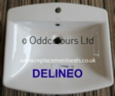 Sottini DeLineo 62cm Countertop 1TH Basin