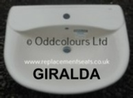 Roca Giralda semi-recessed Basin