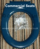 Twyfords Galerie GN7855BE Seat only Top-Fix Blue