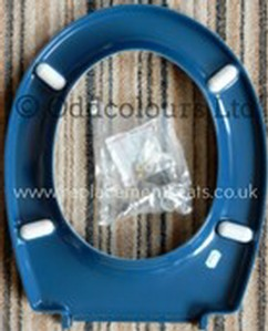 Twyfords Commercial Seat base only in Blue with top-fix hinges
