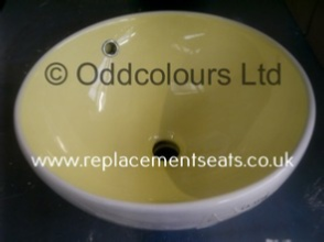400mm Vessel Basin White / Yellow
