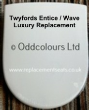 Luxury replacement for Entice / Wave Toilet Seat (top-fixing)