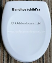 V & B Banditos Replacement Seat in White