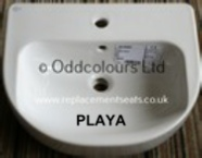 Id Std Playa 55cm semi-recessed 1TH Basin J4674 01