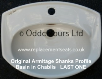 Armitage Shanks Profile 51cm 1TH semi-rec Basin in Chablis / Pergammon