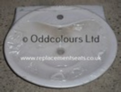 Ideal Standard Purity 60cm 1TH Basin Old English White