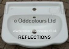 Reflections 56cm 1TH semi-recessed basin in Old English White
