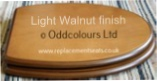 Rhumba Seat in Light Walnut finish
