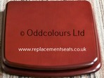 Roca Sydney Resin Replica Seat in Mahogany effect finish
