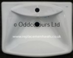Roca Sydney 60cm 1TH Vanity Basin