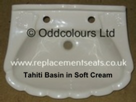Qualitas Tahiti 57cm 2TH Basin in White