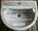 Villeroy & Boch Helios 63cm semi-recessed 1TH Basin in Broadway